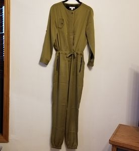Burberry girls olive drab jumpsuit